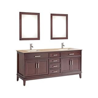 "Sierra 60"" Double Sink Bathroom Vanity Set"