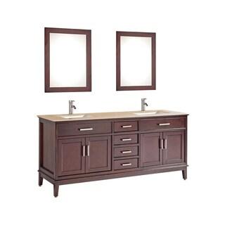 """Sierra 60"""" Double Sink Bathroom Vanity Set"""