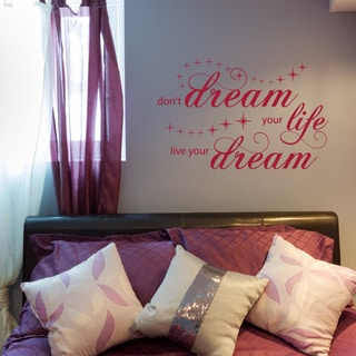 'Live Your Dream' Removable Wall Decal