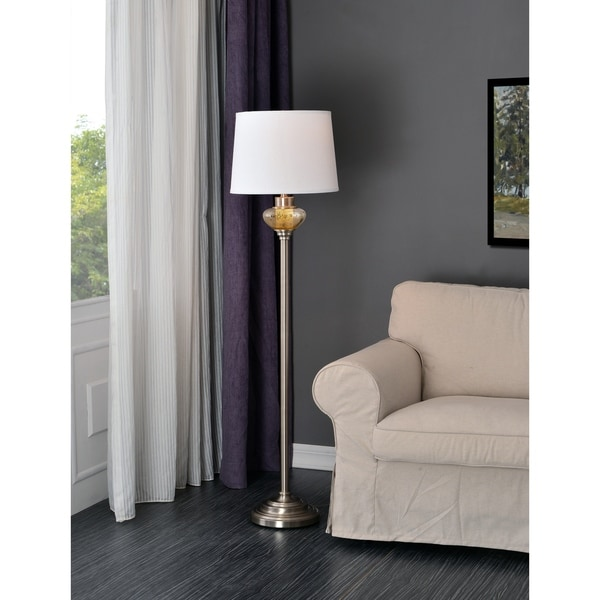Design Craft Capone Brushed Steel 58-inch Floor Lamp