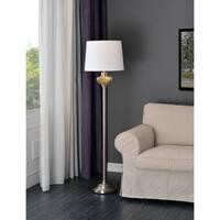 Design Craft Capone Brushed Steel 58-inch Floor Lamp