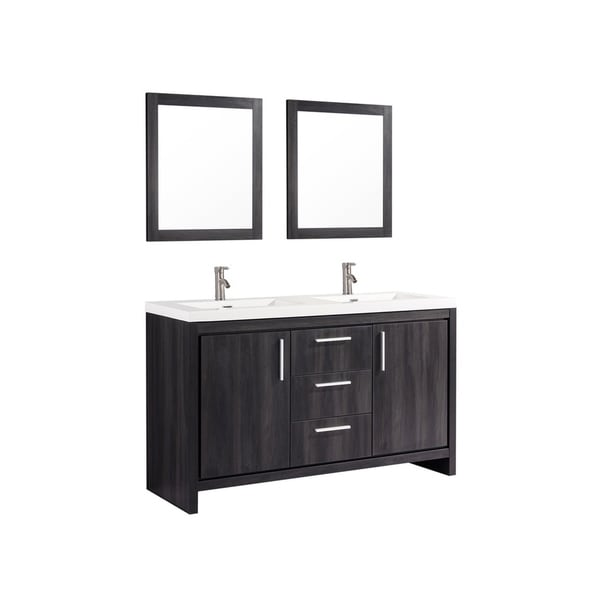 "Bathroom Sinks Miami miami 60"" double sink bathroom vanity set - free shipping today"