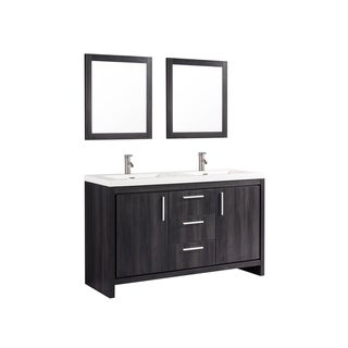 "Miami 60"" Double Sink Bathroom Vanity Set"