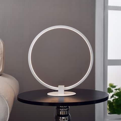 Borealis 15-inch White LED Table Lamp