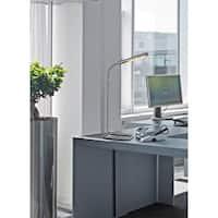 Design Craft Racer Brushed Steel 22-inch Desk Lamp