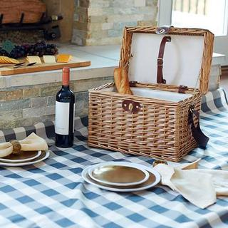 Walden Wicker Picnic Basket with Picnic Blanket