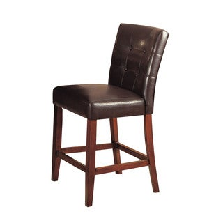Bologna Espresso Counter Height Chair (Set of 2)