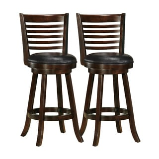 Woodgrove Cappuccino Bonded Leather Bar Stool (Set of 2)