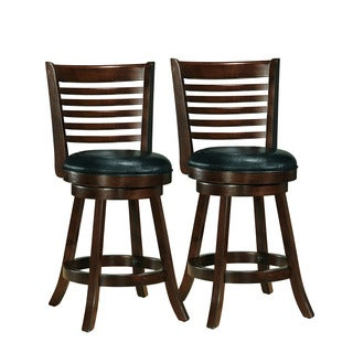 Woodgrove Cappuccino Bonded Leather Counter Height Bar Stool (Set of 2)