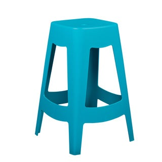 Coda Teal Stackable Counter Stool (Set of 4)