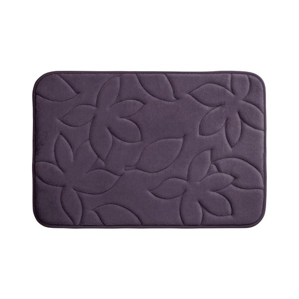 Blowing Leaves Memory Foam 17 in. x 24 in. Bath Mat w/ BounceComfort Technology