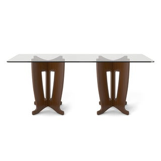 Manhattan Comfort Jane 2.0 -78.64 in Sleek Tempered Glass Table Top