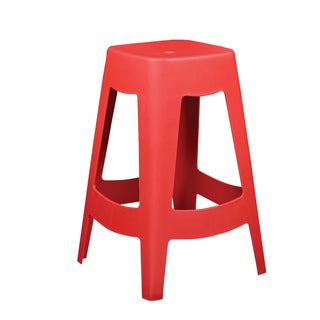 Coda Red Stackable Counter Stool (Set of 4)