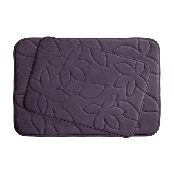 Blowing Leaves Memory Foam 2-Piece Bath Mat Set w/ BounceComfort Technology