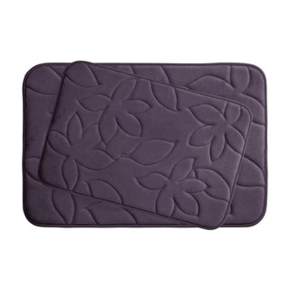 Blowing Leaves Memory Foam 2-Piece Bath Mat Set w/ BounceComfort Technology