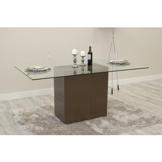 Manhattan Comfort Perry Sleek Tempered Glass Dining Table