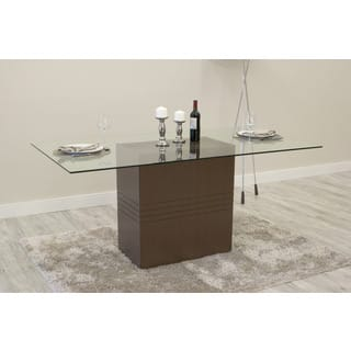 rectangle glass dining room table. Manhattan Comfort Perry Sleek Tempered Glass Dining Table  Rectangle Room Kitchen Tables For Less Overstock com