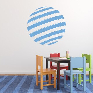 Style and Apply Blue/White Vinyl Retro Ball Wall Decal Sticker