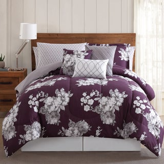 Peony Garden Floral 12-piece Comforter Bed in a Bag with Sheet Set and Extra Pillowcases