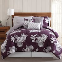 Silver Orchid Tyrone Peony Garden Floral 12-piece Comforter Bed in a Bag with Sheet Set and Extra Pillowcases