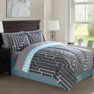 Brandenburg Geo Reversible 8-piece Bed in a Bag Comforter Set
