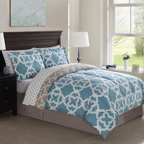 Bolton Gatework Reversible 8-piece Bed in a Bag Comforter Set