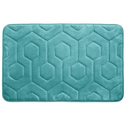 Hexagon Memory Foam 20 in. x 34 in. Bath Mat w/ BounceComfort Technology