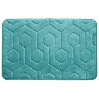 Hexagon Memory Foam 20 in. x 34 in. Bath Mat w/ BounceComfort Technology