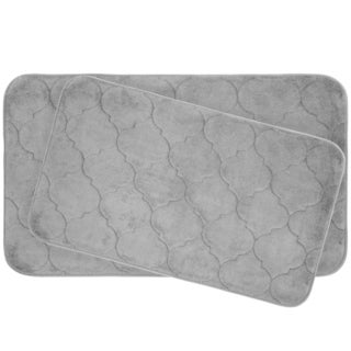 Stencil Floral Memory Foam 2-Piece Bath Mat Set w/ BounceComfort Technology