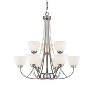 Ashton 9 Light Chandelier - White
