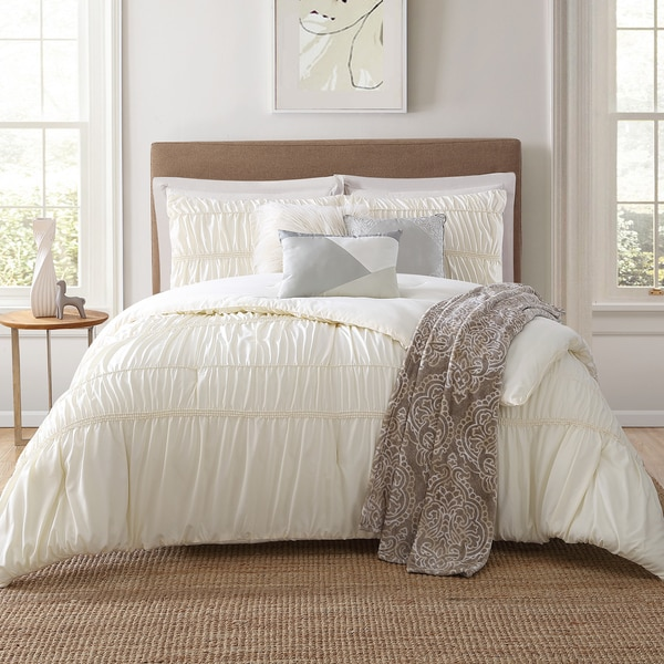Jennifer Adams Home Solid Textured 7-piece Comforter Set