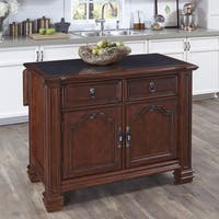 Gracewood Hollow Stoker Kitchen Island with Inset Granite Top