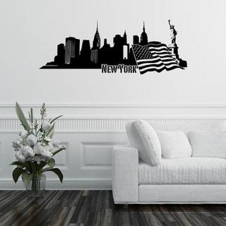 'New York City Skyline' Vinyl Wall Art