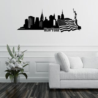 'New York City Skyline' Vinyl Wall Art