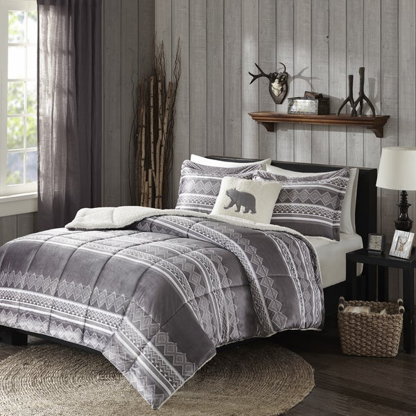 Woolrich Anderson Grey Mink Down Alternative Comforter Set