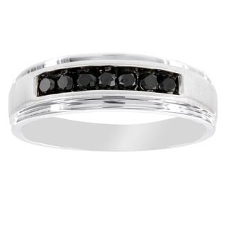 H Star Men's 1/3ct. Black Diamond Band