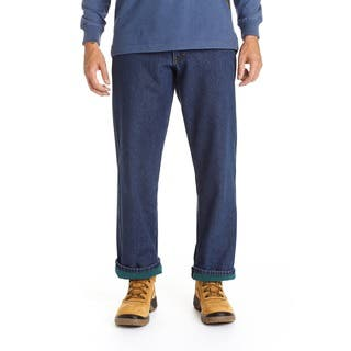 Stanley Men's Blue Cotton/Denim 5-pocket Jeans Lined in Anti-pill Fleece|https://ak1.ostkcdn.com/images/products/12734741/P19513514.jpg?impolicy=medium