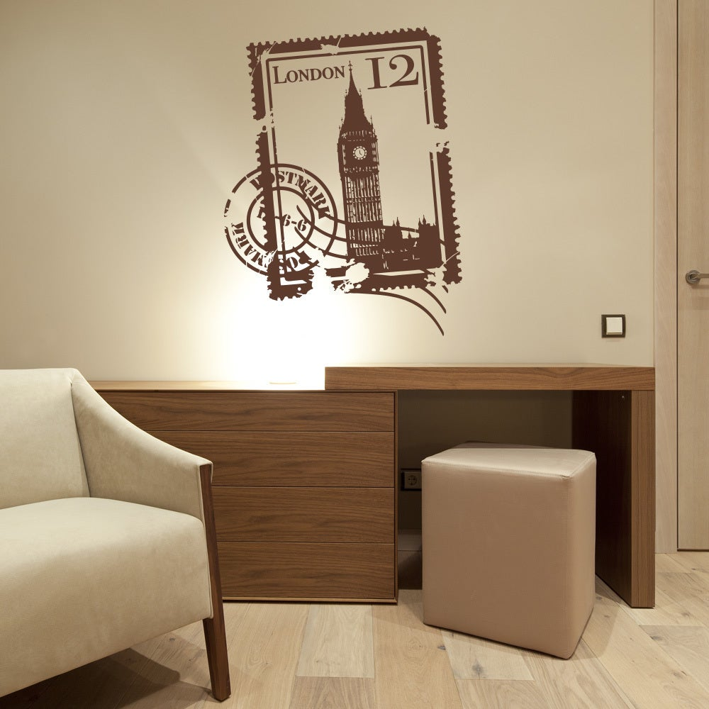 Style and Apply 'London Stamp' Vinyl Wall Decal (39in x 5...