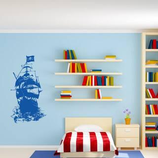 'Pirate Ship III' Vinyl Wall Art|https://ak1.ostkcdn.com/images/products/12734792/P19513555.jpg?impolicy=medium