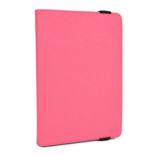 KroO Universal Synthetic Leather 6- to 8-inch Screen Tablet Case with Silicon Clamps and Stand