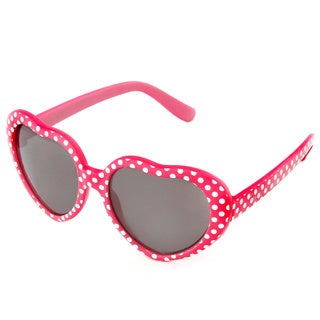 Hot Optix Girl's Heart-shaped Fashion Sunglasses