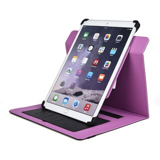 KroO Universal Synthetic Leather 11 to 12-inch Screen Tablet Case with Silicone Clamps and Stand
