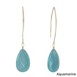 J&H Designs Gemstone Teardrop Earrings