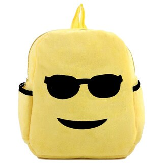 Baby Deluxe Little Kids 'Show Your Emoticon' Cool Face Emoji Face Plush Backpack