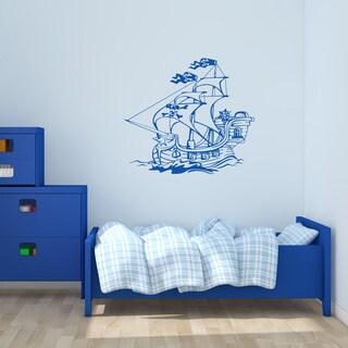 'Pirate Ship IV' Vinyl Wall Art Decal
