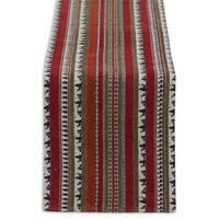 Wilderness Stripe Cotton Blend Tapestry Table Runner