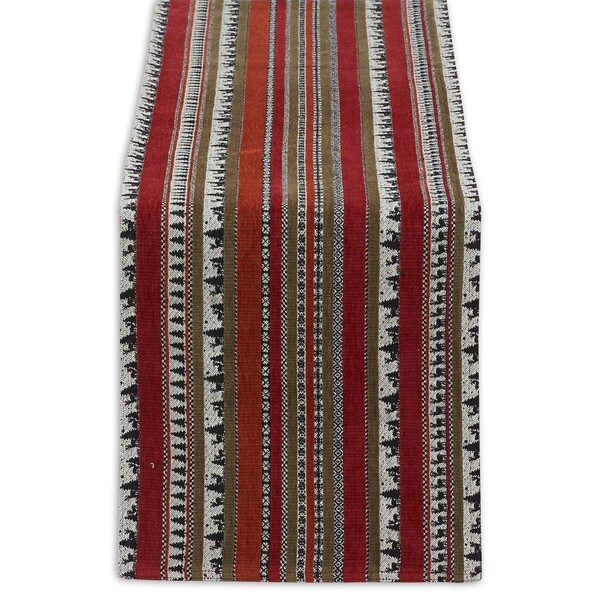 Wilderness Stripe Cotton Blend Tapestry Table Runner