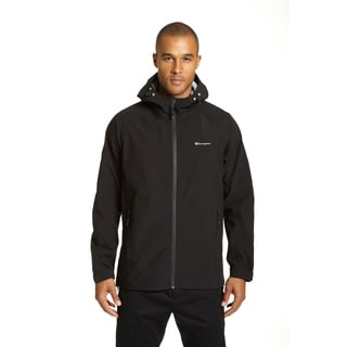 Champion Men's Black/Blue Polyester Stretch Waterproof Breathable All-weather Jacket