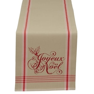 Cotton Printed Reversible 'Joyeux Noel' Table Runner