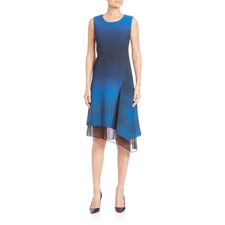 Elie Tahari Clarissa Asymmetrical Hem Dress